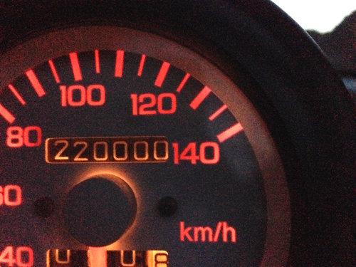 走行距離が22万kmになりました