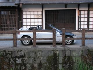 伊能忠敬氏の住居そばでビートを撮影