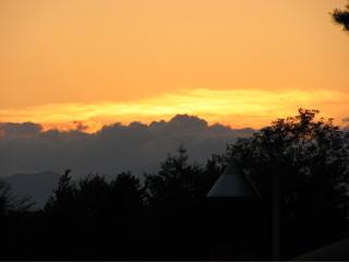 東北自動車道からの夕日